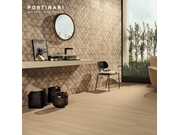 Porcelanato Portinari Nordic BE NAT 20x120 e Nordic Decor BE MIX NAT 60x60